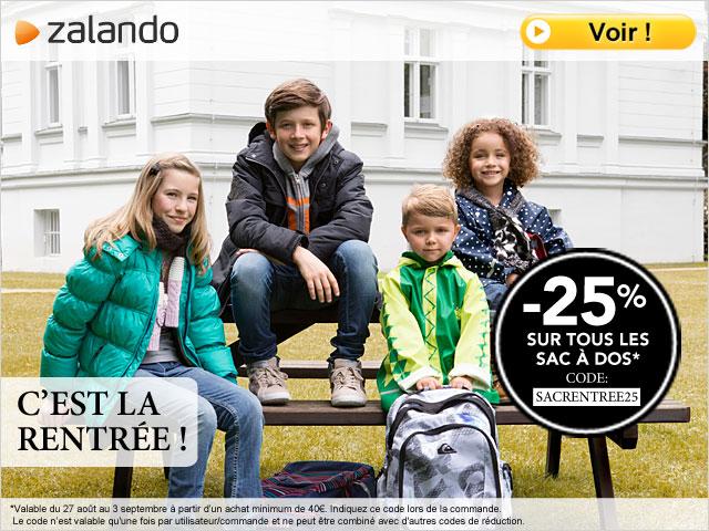 code promo zalando sacs pour la rentr e que pour les enfants. Black Bedroom Furniture Sets. Home Design Ideas